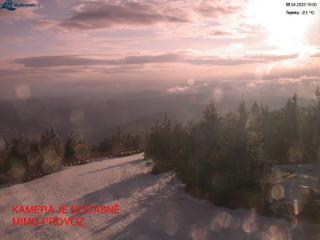 Lysá hora - pohled na západ